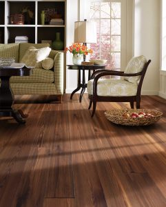"Tesoro Woods Salvaged Pine Wood Flooring, 6"" Smoked EcoTimber Reclaimed Pine Fumed"